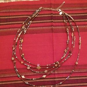 Cookie lee beaded 5 strand necklace